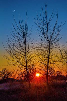 Photograph - Mid March Nebraska Sunset 005 by NebraskaSC