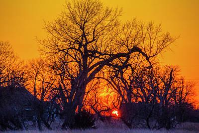 Photograph - Mid March Nebraska Sunset 015 by NebraskaSC