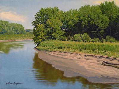 Mid Summer Prairie Stream Art Print