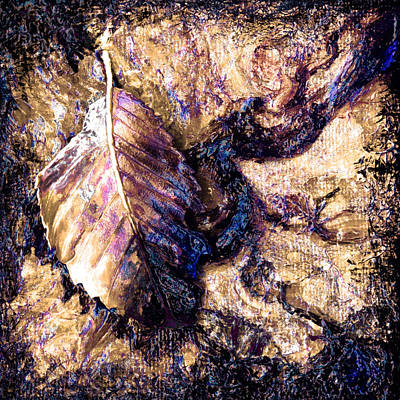 Metaphysical Painting - Midas Leaf by Kd Neeley