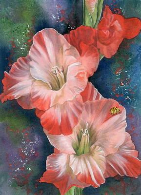 Gladiolas Painting - Midday by Barbara Keith