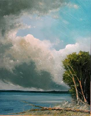Painting - Midday Clouds by Boris Garibyan