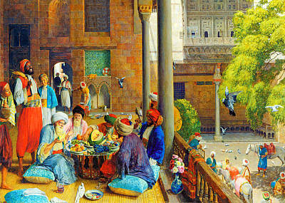 Meal Painting - Midday Meal by Munir Alawi