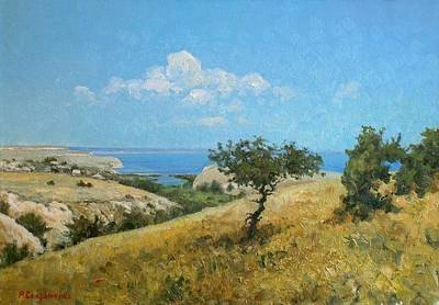 Midday On The Volga Print by Andrey Soldatenko