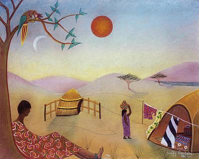 Midday Sun Art Print by Sally Appleby
