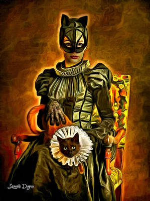 Middle Ages Catwoman - Da Art Print