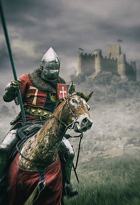 Digital Art - Middle Ages Knight by Carlos Caetano