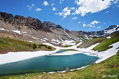 Photograph - Middle Blue Lake by Jeff Goulden
