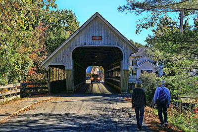 Photograph - Middle Bridge - Woodstock # 2 by Allen Beatty