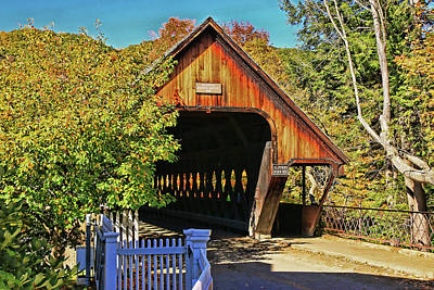 Photograph - Middle Bridge - Woodstock by Allen Beatty