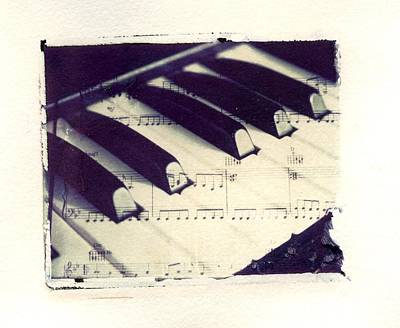Middle C Polaroid Transfer Art Print by Jane Linders