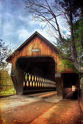 Photograph - Middle Covered Bridge - Woodstock Vermont by Joann Vitali
