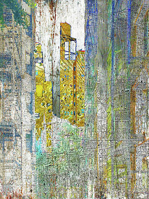 Mixed Media - Middle Distance by Tony Rubino