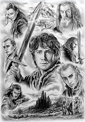 Orlando Bloom Drawing - Middle Earth by Andrew Read