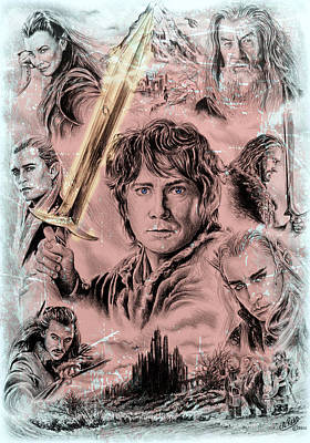 Fantasy Drawings - Middle Earth frost edit by Andrew Read