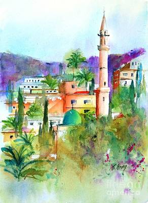 Painting - Middle East Skyline by Betty M M   Wong