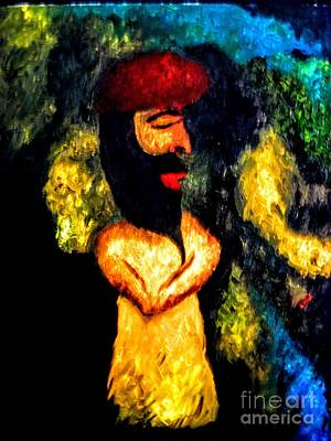 Painting - Middle Eastern Man by Robin Lewis