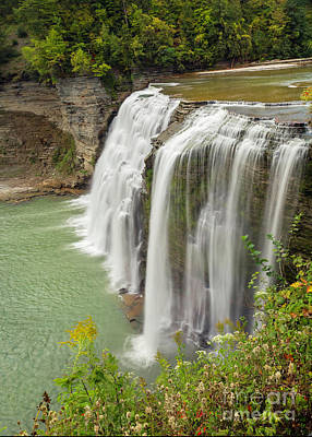 Photograph - Middle Falls Of Letchworth Park by Karen Jorstad