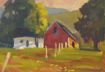 Painting - Middle Farm Airyhill by Len Stomski