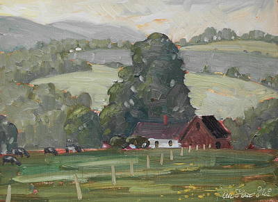 Painting - Middle Farm by Len Stomski