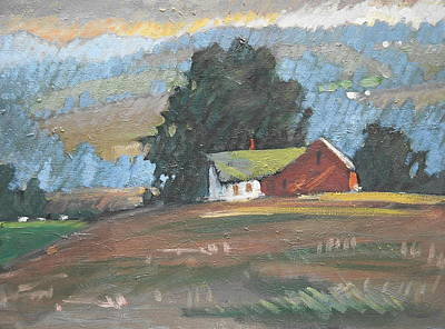 Painting - Middle Farm Sun by Len Stomski