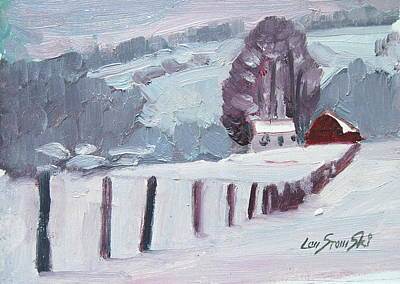 Painting - Middle Farm Winter by Len Stomski