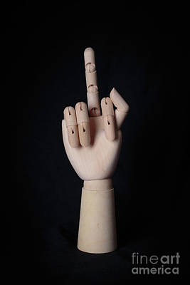 Middle Finger Art Print by Edward Fielding