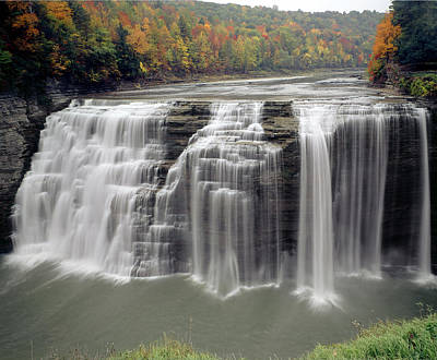 Photograph - Middle Genesee Falls 131616 by Ed  Cooper Photography