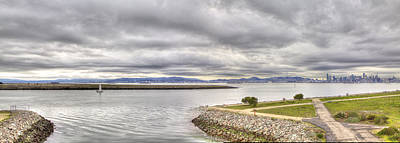 Photograph - Middle Harbor Shoreline Park Pano by SC Heffner