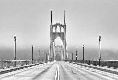 Middle Of Bridge Art Print by Chad Latta