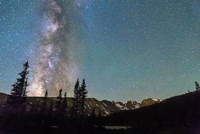 Photograph - Middle Of The Night Milky Way Above The Rocky Mountains by James BO  Insogna