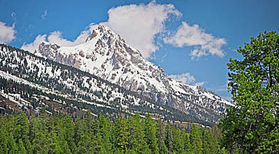 Digital Art - Middle Teton Panorama by Gene Norris