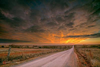 Middleberg Sunset 2 Art Print by Chris Martin