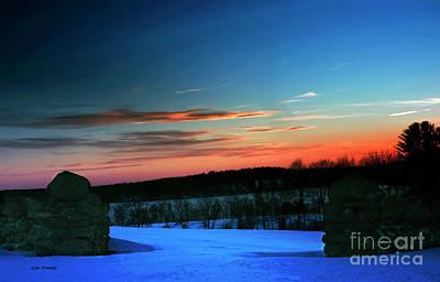 Middlebury Photograph - Middlebury March Sunset by Linda Troski