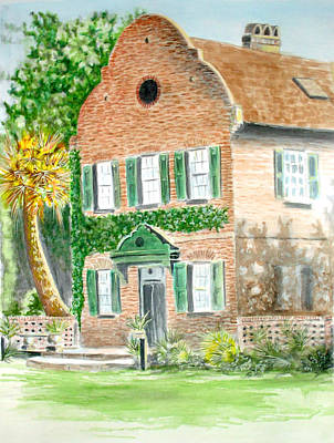 Ashley River Painting - Middleton House by Thomas Hamm