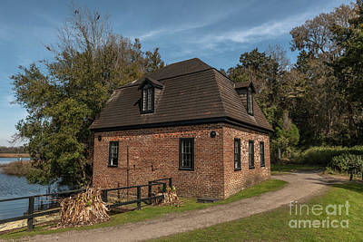 Photograph - Middleton Place Brick Building By The Lake by Dale Powell