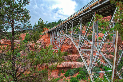 Photograph - Midgley Bridge Clouds - Sedona Arizona by Gregory Ballos
