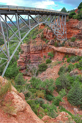 Photograph - Midgley Bridge - Oak Creek Canyon In Sedona Arizona by Gregory Ballos