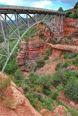 Photograph - Midgley Bridge - Oak Creek Canyon In Sedona Arizona by Gregory Ballos