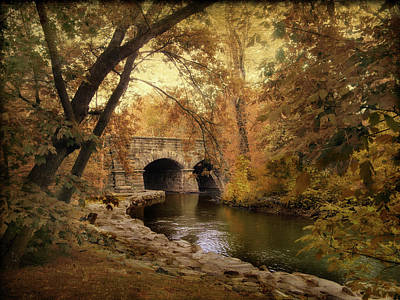 Fall Foliage New York Wall Art - Photograph - Midland Bridge by Jessica Jenney