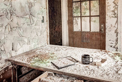 Print featuring the photograph Midlife Crisis In Progress - Abandoned Asylum by Gary Heller