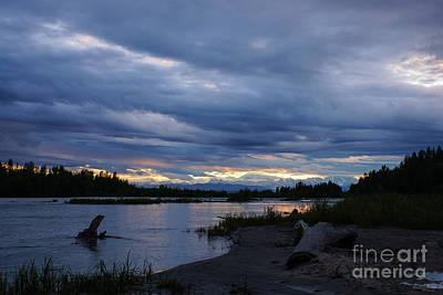 Photograph - Midnight Alaska Sunset by Jennifer White
