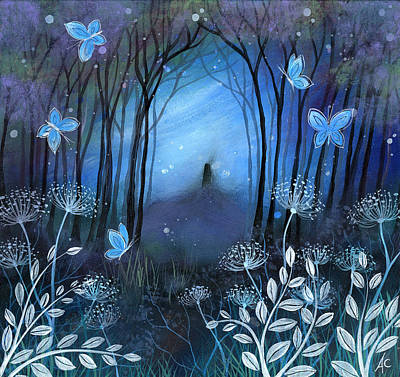 Mystical Landscape Painting - Midnight by Amanda Clark