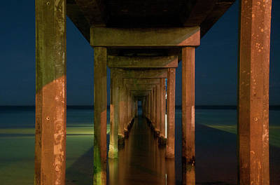 Midnight At Brighton Jetty Art Print