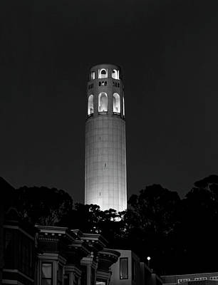 Midnight At Coit Tower - San Francisco Art Print by Daniel Hagerman