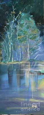 Painting - Midnight At Lake Lanier by JillyWilly Maxwell