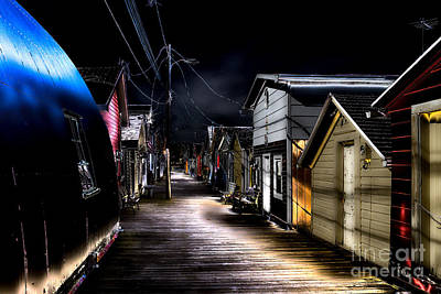 Canandaigua Lake Photograph - Midnight At The Boathouse by William Norton