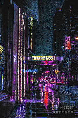 Photograph - Midnight At Tiffany by Sandy Moulder