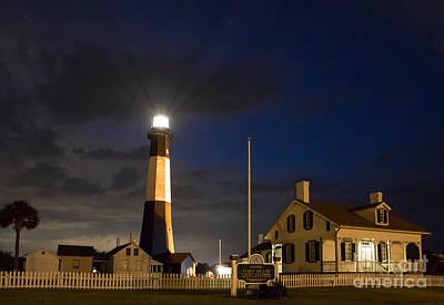 Midnight At Tybee Lighthouse Art Print by John Roberts
