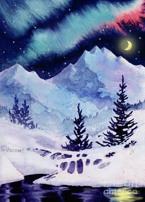 Painting - Midnight Aurora by Teresa Ascone